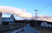 Road Next to Farm in Winter
